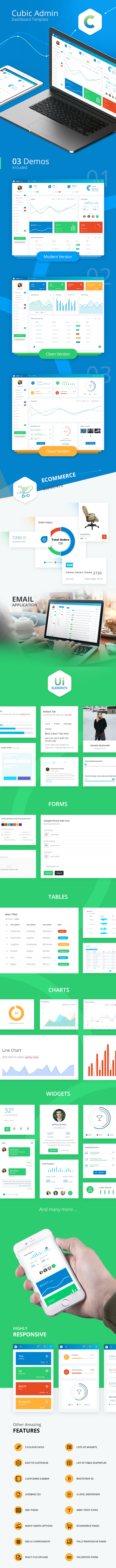 cubic - Cubic Admin - Dashboard + UI Kit Framework with Frontend Templates