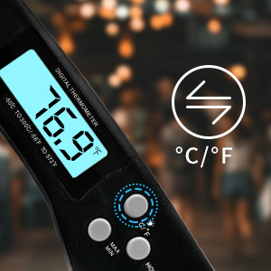 ddcf1e4b f5ee 40df afc8 af3cbbf59486.  CR0,0,300,300 PT0 SX300 V1    - DOQAUS Digital Meat Thermometer, Instant Read Food Thermometer for Cooking, Digital Kitchen Thermometer Probe with Backlight & Reversible Display, Cooking Thermometer for Turkey Candy Grill BBQ