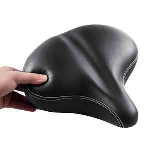 e14284a9 6155 4332 aade 81c58c18c6b1.  CR0,0,300,300 PT0 SX300 V1    - Most Comfortable Extra Large Bike Seat - Wide Oversized Bicycle Saddle with Super Thick & Soft Foam Padding and Dual Spring Shock Absorbing Design - Universal Fit for Exercise Bike and Outdoor Bikes