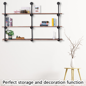 e294457b c58e 4857 b2c0 219aef8ddf2b.  CR0,0,300,300 PT0 SX300 V1    - Pynsseu Industrial Iron Pipe Shelving Brackets Unit, Farmhouse Wall Mounted Pipe Shelves for Kitchen Bathroom, DIY Bookshelf Living Room Storage, 3Pack of 4 Tier