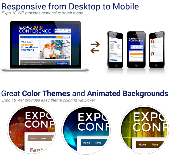 expo features - Expo18 Responsive Event Conference WordPress Theme