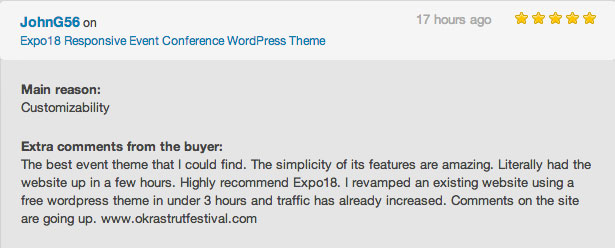 expo review - Expo18 Responsive Event Conference WordPress Theme