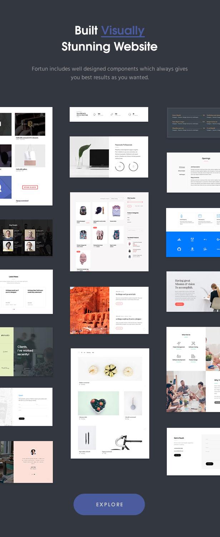 fortun description components v2 - Fortun   Multi-Concept WordPress Theme