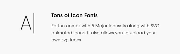 fortun description feature iconfont - Fortun   Multi-Concept WordPress Theme