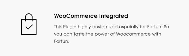 fortun description feature woocommerce - Fortun   Multi-Concept WordPress Theme