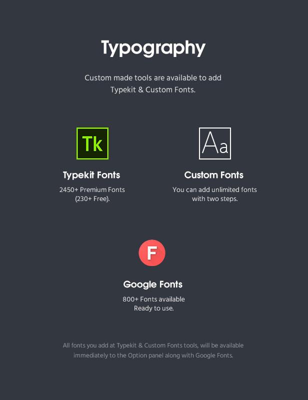 fortun description fonts v2 - Fortun   Multi-Concept WordPress Theme