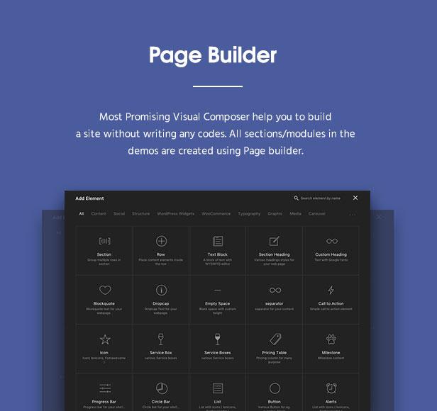 fortun description pagebuilder v2 - Fortun   Multi-Concept WordPress Theme