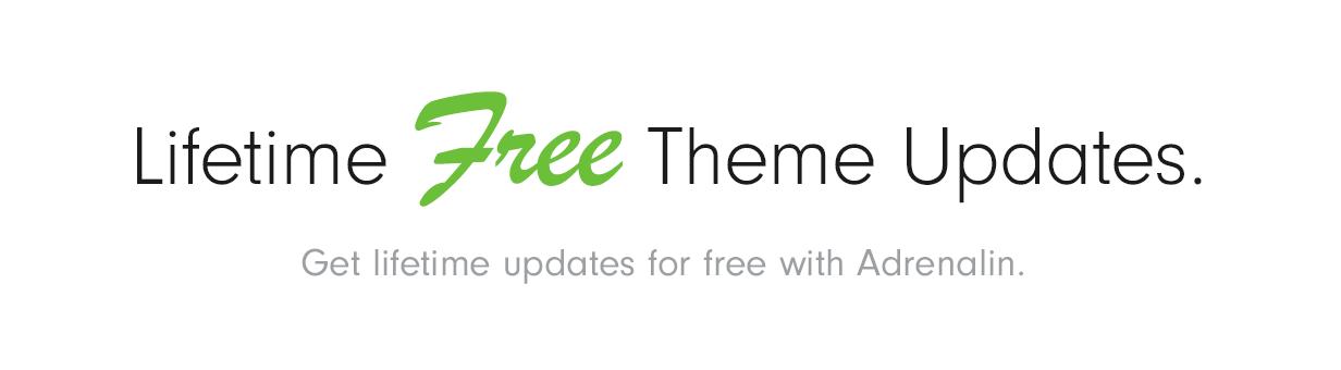 free updates - Adrenalin - Multi-Purpose WooCommerce Theme