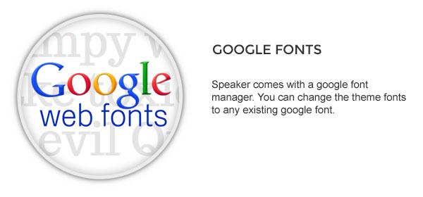 google font - Speaker - One-Page Music Wordpress Theme