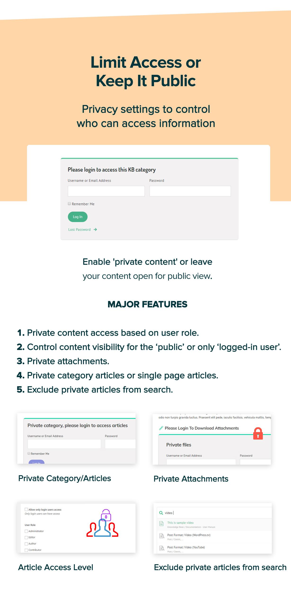 new manual theme limit access - Manual - Documentation, Knowledge Base & Education WordPress Theme
