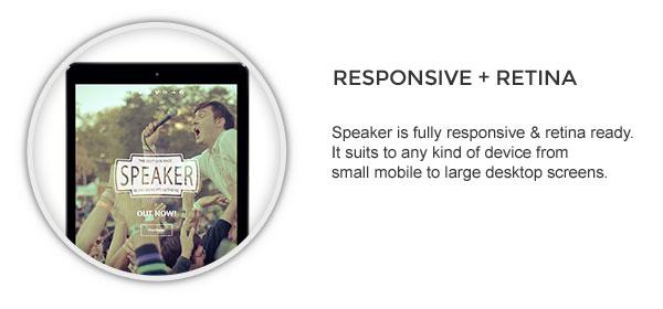 responsive - Speaker - One-Page Music Wordpress Theme