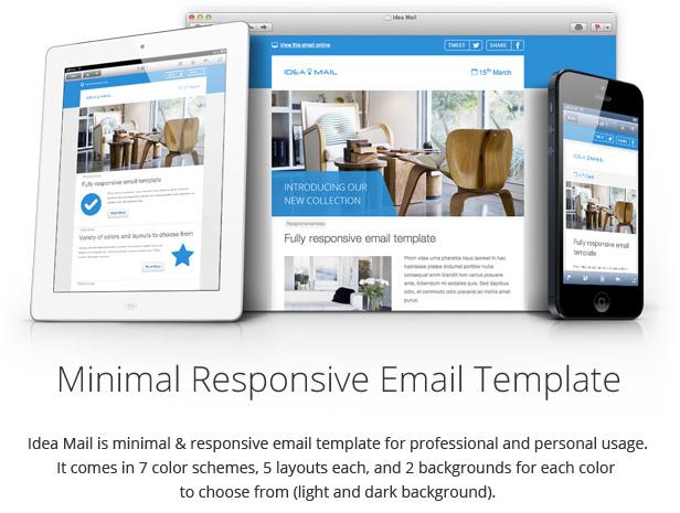 responsive design2 - Idea Mail - Minimal & Responsive Email Template
