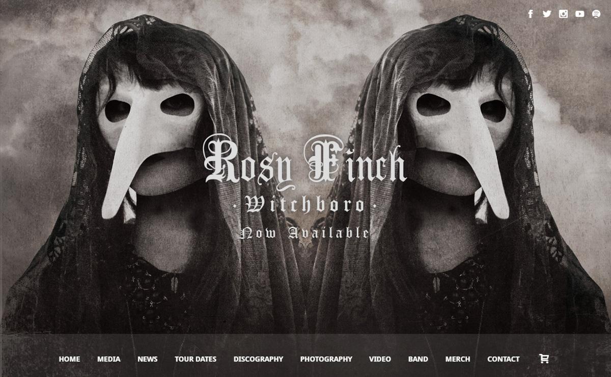 rosyfinchband - Speaker - One-Page Music Wordpress Theme