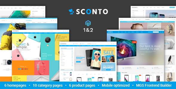 sconto preview - Unero – Minimalist Magento 2 and 1 Theme