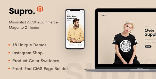 supro preview magento.  large preview - Unero – Minimalist Magento 2 and 1 Theme