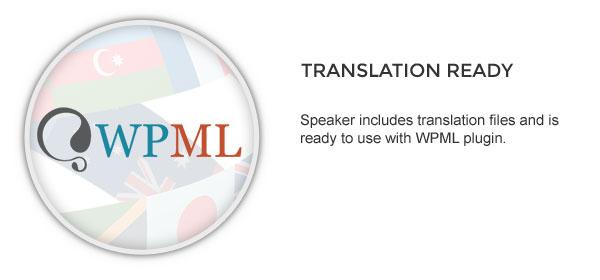 translation - Speaker - One-Page Music Wordpress Theme