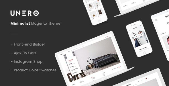 unero preview.  large preview - Unero – Minimalist Magento 2 and 1 Theme