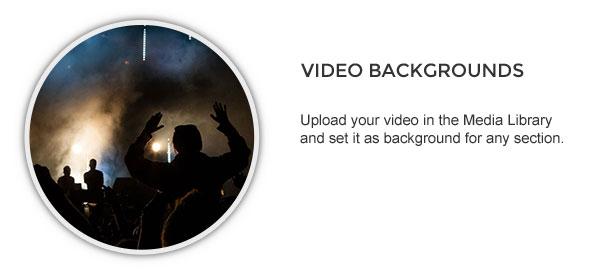 video background - Speaker - One-Page Music Wordpress Theme