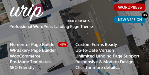 00 preview image urip.  large preview - Urip - Professional WordPress Landing Page