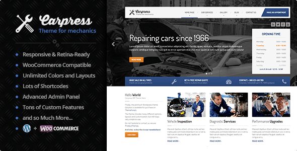 01 Cover.  large preview - CarPress - WordPress Theme For Mechanic Workshops