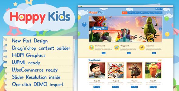 01 happykids.  large preview - Happy Kids - Children WordPress Theme