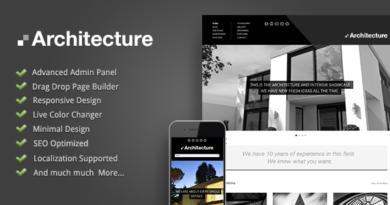 Architecture – WordPress Theme