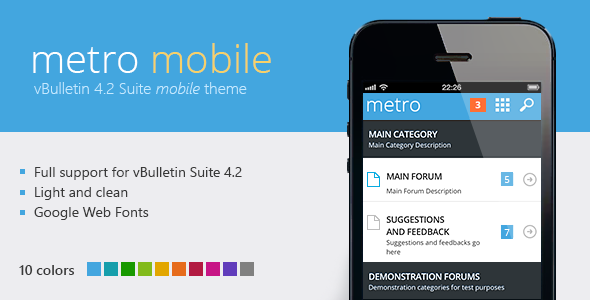 01 metro mobile preview.  large preview - Metro Mobile - A Theme for vBulletin 4.2
