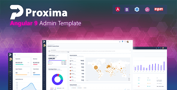 01 showcase.  large preview - Proxima - Angular 10 Admin Template