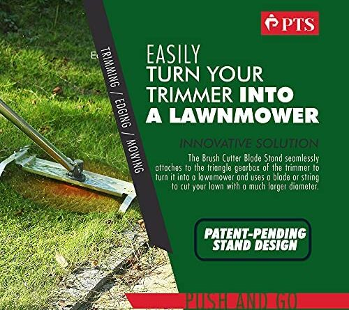 1633070035 61NhvL3tLRS. AC  500x445 - Flamingo PTS Brush Cutter Blade Stand Push Lawn Mower | Walk Behind Edger Push Reel Mower That Converts Your Grass Trimmer Weed Eater String Trimmers Into Push Type Lawn Grass Cutter