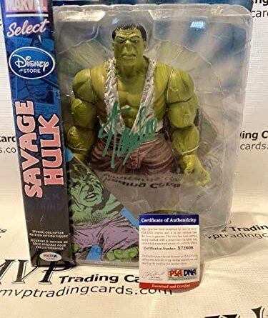 1634153216 51YX0XfokkL. AC  375x445 - PSA/DNA Stan Lee Autograph Marvel Select Savage Hulk Action Figure