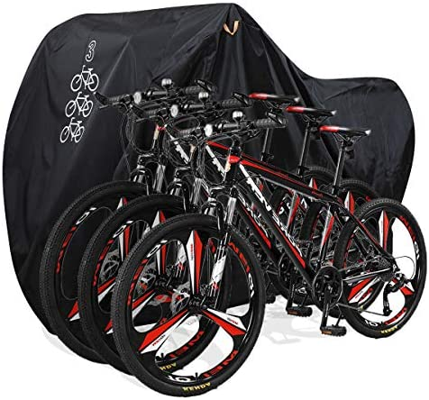 1634327214 517y5GxH2PL. AC  - Aiskaer Bicycle Cover with Lock Hole Reflective Safety Loops for 29er Mountain Road Electric Bike Motorcycle Cruiser Outdoor Storage, Waterproof, Anti-UV, Heavy Duty Ripstop Material 210D