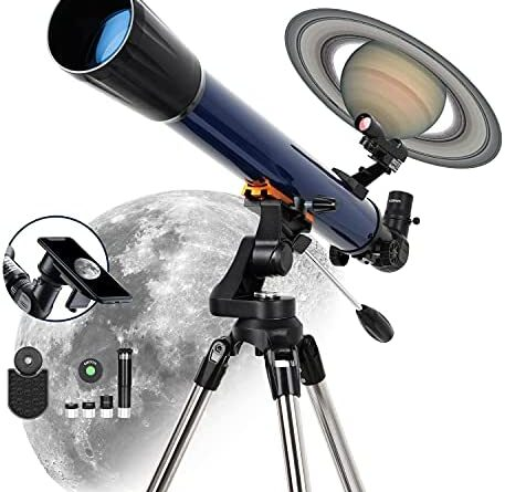 1634370439 519Wa43UcqS. AC  457x445 - ESSLNB 525X Telescopes for Adults Astronomy with K4/10/20 Eyepieces Red Dot Finderscope 70mm Erect-Image Beginners Telescopes 700mm Focal Length Astronomical Telescope with Phone Adapter