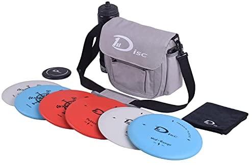 1634893400 41WfN p4dHS. AC  - Disc Golf Starter Set-2 PCS Putter, 2 PCS Mid-Range, 2 PCS Driver, 1 Mini disc,1 Towel with Bag