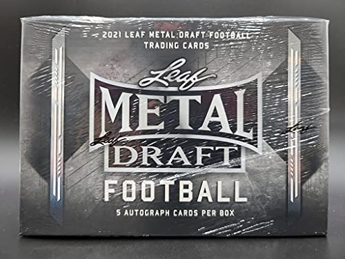 1635197194 51NMuJegzGS. AC  - 2021 Leaf Metal Draft Football box (FIVE Autograph cards/bx)