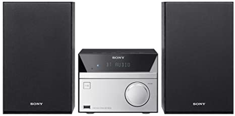 1635285199 31Sx2c5HJVL. AC  - Sony Micro Hi-Fi Stereo Sound System with Bluetooth Wireless Streaming NFC, CD Player, FM Radio, Mega Boost, USB Playback & Charge, AUX Input, Remote Control