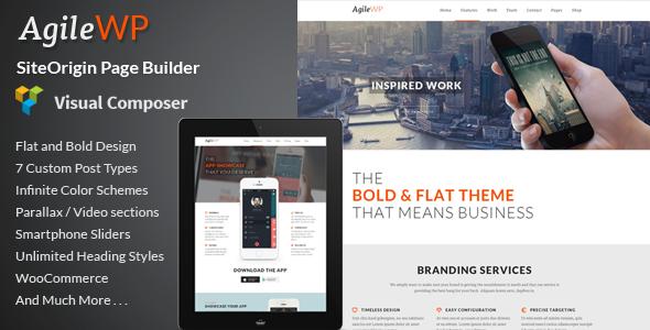 1 agile screenshot.  large preview - Agile - Multi-Purpose App Showcase WordPress Theme