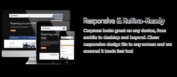 1 responsive and retina ready fs8 - CarPress - WordPress Theme For Mechanic Workshops