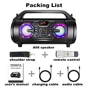 361f30c2 0b9f 4d70 800b 33b4f3af95b8.  CR0,0,1000,1000 PT0 SX300 V1    - Bluetooth Speakers, 30W Portable Bluetooth Boombox with Subwoofer, FM Radio, RGB Colorful Lights, EQ, Stereo Sound, Booming Bass, 10H Playtime Wireless Outdoor Speaker for Home, Party, Camping, Travel