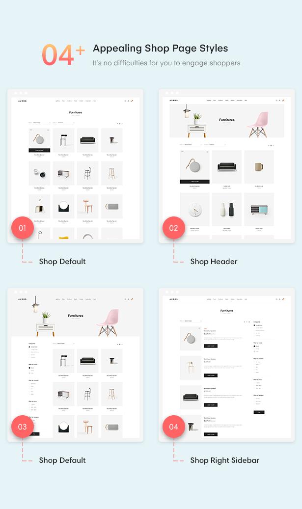 4 - Auros - Furniture Elementor WooCommerce Theme