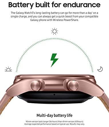 414KJwFGR3L. AC  - Samsung Galaxy Watch 3 (41mm, GPS, Bluetooth) Smart Watch Mystic Bronze (US Version, Renewed) (Renewed)