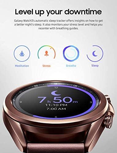 418DziFn0pL. AC  - Samsung Galaxy Watch 3 (41mm, GPS, Bluetooth) Smart Watch Mystic Bronze (US Version, Renewed) (Renewed)
