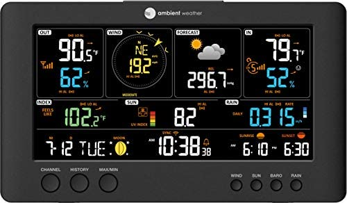 41IU70Tq7ML. AC  - Ambient Weather WS-7079 Smart Weather Station w/WiFi Remote Monitoring and Alerts, High Definition Display
