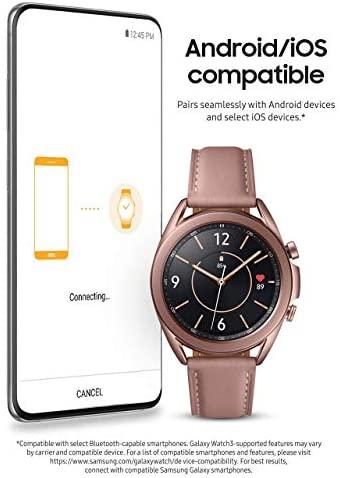 41JNye4PenL. AC  - Samsung Galaxy Watch 3 (41mm, GPS, Bluetooth) Smart Watch Mystic Bronze (US Version, Renewed) (Renewed)