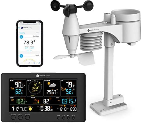 41dpDEuA43L. AC  - Ambient Weather WS-7079 Smart Weather Station w/WiFi Remote Monitoring and Alerts, High Definition Display