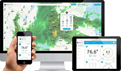 41qONnLWAfL. AC  - Ambient Weather WS-7079 Smart Weather Station w/WiFi Remote Monitoring and Alerts, High Definition Display