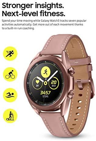 41sganNH8XL. AC  - Samsung Galaxy Watch 3 (41mm, GPS, Bluetooth) Smart Watch Mystic Bronze (US Version, Renewed) (Renewed)