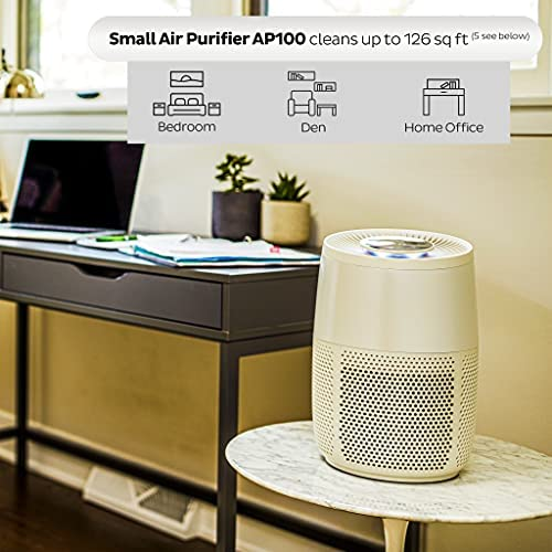 51IpEjowGmS. AC  - Instant Air Purifier, Helps remove 99.9% of viruses (COVID-19), bacteria, allergens, smoke; advanced 3-in-1HEPA-13filtration with plasma ion technology, Small Room, Pearl