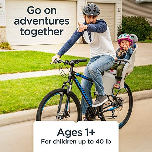 51RdlE+SIoL. AC  - Schwinn Deluxe Bicycle Mounted Child Carrier/Bike Seat For Children, Toddlers, and Kids