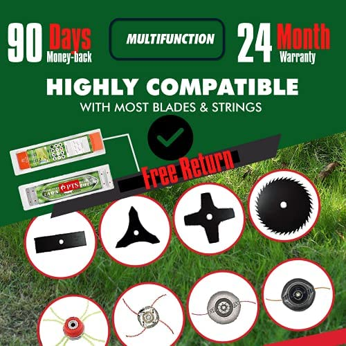51TwPRr4hDL. AC  - Flamingo PTS Brush Cutter Blade Stand Push Lawn Mower | Walk Behind Edger Push Reel Mower That Converts Your Grass Trimmer Weed Eater String Trimmers Into Push Type Lawn Grass Cutter