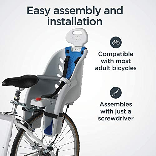 51b33r4wnLL. AC  - Schwinn Deluxe Bicycle Mounted Child Carrier/Bike Seat For Children, Toddlers, and Kids